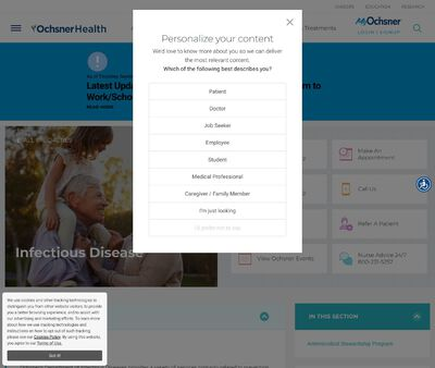 STD Testing at Ochsner Medical Center (Department of Infectious Diseases)