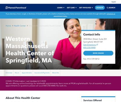 STD Testing at Western Massachusetts Health Center of Springfield, MA