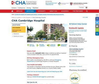 STD Testing at CHA Cambridge Hospital