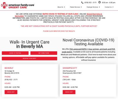 STD Testing at AFC Urgent Care Beverly