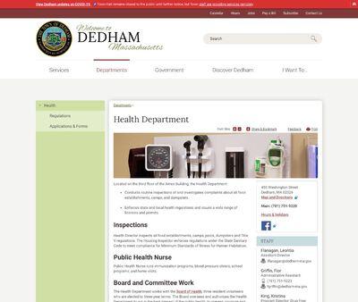 STD Testing at Dedham Town Health Department