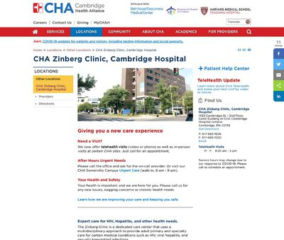 STD Testing at CHA Zinberg HIV Clinic