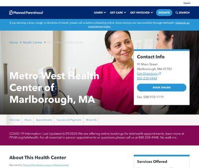 STD Testing at Planned Parenthood-Marlborough Health Center