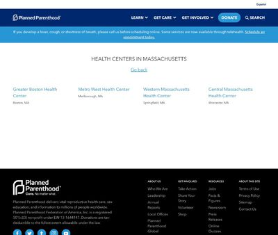 STD Testing at Planned Parenthood- Central Massachusetts Health Center