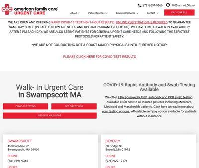 STD Testing at AFC Urgent Care Swampscott