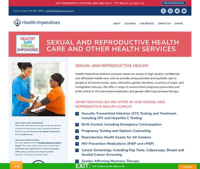 STD Testing at Health Imperatives - New Bedford Sexual and Reproductive Health