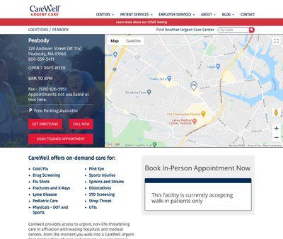 STD Testing at CareWell Urgent Care Peabody
