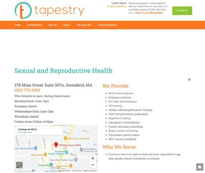 STD Testing at Tapestry Health Family Planning and Reproductive Health