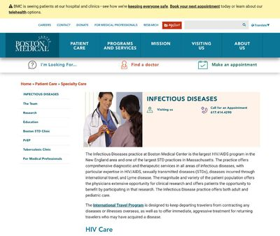 STD Testing at Boston Medical Center