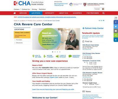 STD Testing at Cambridge Health Alliance-Revere Care Center