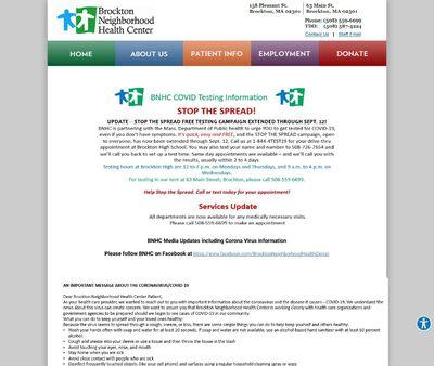 STD Testing at Brockton Neighborhood Health Center