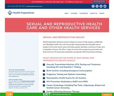 STD Testing at Health Imperatives Brockton Family Planning