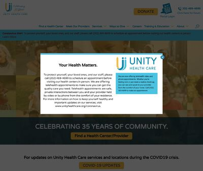 STD Testing at Unity Health Care (New York Avenue Homeless Shelter)