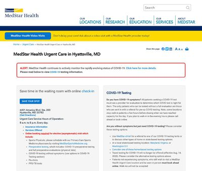 STD Testing at MedStar PromptCare at Hyattsville