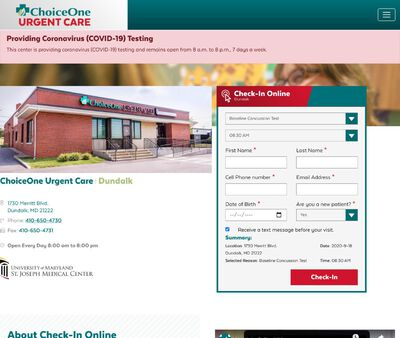 STD Testing at Choice-One Urgent Care - Dundalk
