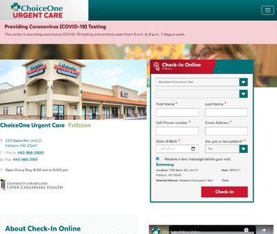 STD Testing at ChoiceOne Urgent Care - Fallston