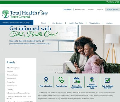 STD Testing at Total Health Care - Mondawmin Mall Health Center