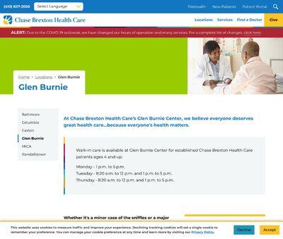 STD Testing at Chase Brexton Health Care- Glen Burnie Center