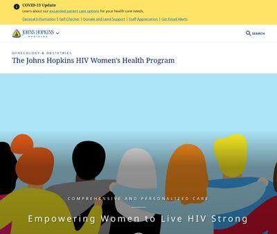 STD Testing at John Hopkins University Women's HIV Program