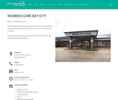 STD Testing at Women's Care Bay City