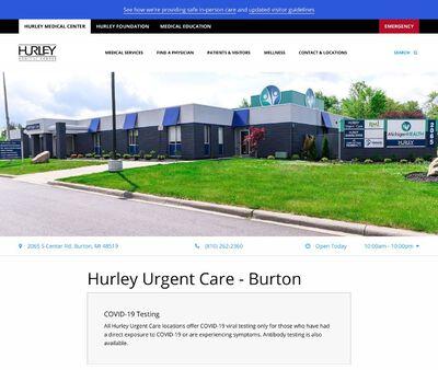 STD Testing at Hurley Urgent Care - Burton