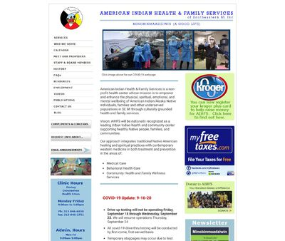 STD Testing at American Indian Health and Family Services of Southeast Michigan (Urban Indian Health Program)