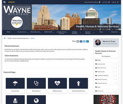 STD Testing at Wayne County Department of Health, Veterans, & Community Wellness