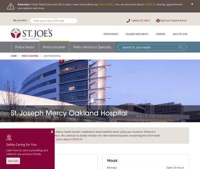 STD Testing at St Joseph Oakland Mercy