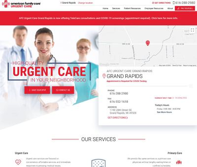 STD Testing at AFC Urgent Care Grand Rapids