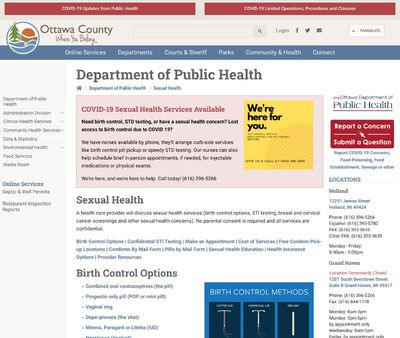 STD Testing at Ottawa County Department of Public Health