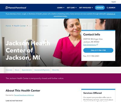STD Testing at Planned Parenthood – Jackson Health Center