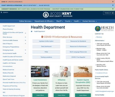 STD Testing at Kent County Health Department (Fuller Public Health Clinic)