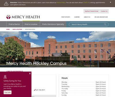 STD Testing at Mercy Health Hackley Campus