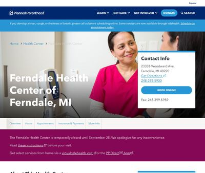 STD Testing at Planned Parenthood of Michigan (Ferndale Health Center)