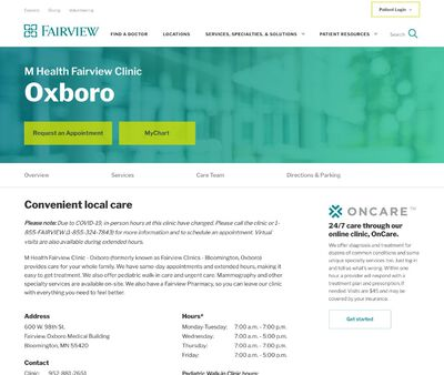 STD Testing at M Health Fairview Clinic - Oxboro