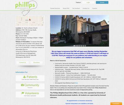 STD Testing at Phillips Neighborhood Clinic