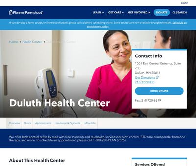STD Testing at Planned Parenthood – Duluth Clinic
