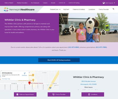 STD Testing at Hennepin Healthcare Whittier Clinic and Pharmacy