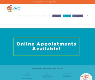 STD Testing at myHealth for Teens and Young Adults