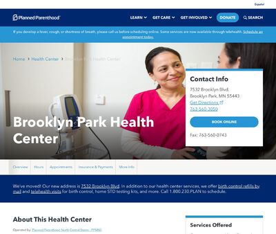 STD Testing at Planned Parenthood Minnesota North Dakota South Dakota (Brooklyn Park Clinic)