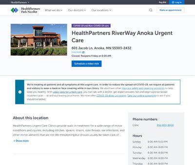 STD Testing at HealthPartners Riverway Urgent Care Anoka