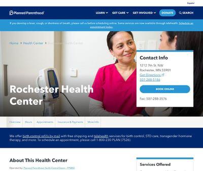STD Testing at Planned Parenthood Minnesota North Dakota South Dakota (Rochester Clinic)