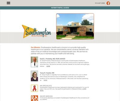 STD Testing at Southampton Healthcare Incorporated