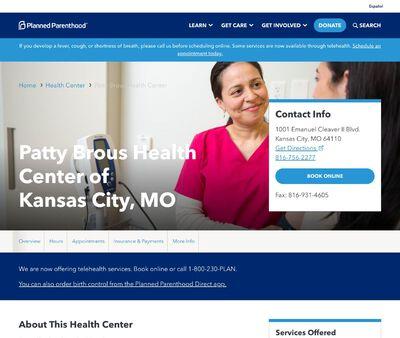 STD Testing at Patty Brous Health Center of Kansas City, MO