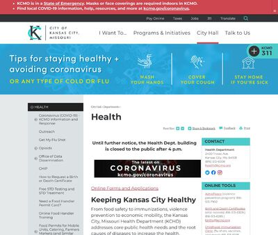 STD Testing at City of Kansas City Health Department