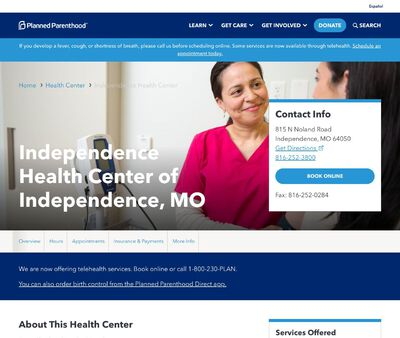 STD Testing at Independence Health Center of Independence, MO