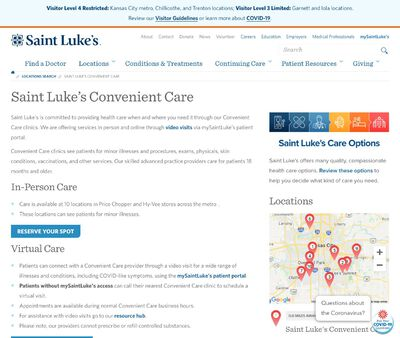STD Testing at Saint Luke's Convenient Care - Hy-Vee 350 Highway & Gregory