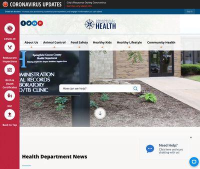 STD Testing at Springfield-Greene County Health Department