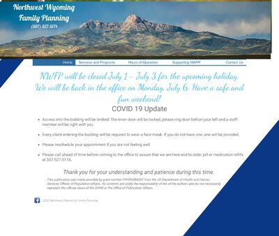 STD Testing at Northwest Wyoming Family Planning (Cody Clinic)