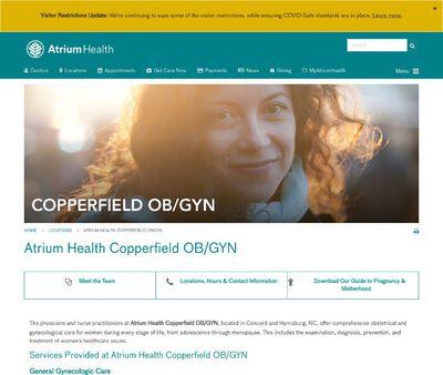 STD Testing at Atrium Health Copperfield OB/GYN
